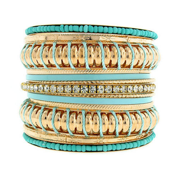 Fashion Bangle Set  www.tinytulip.com Turquoise
