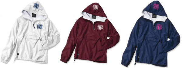 Double Monogrammed Pullover Wind Jacket  www.tinytulip.com