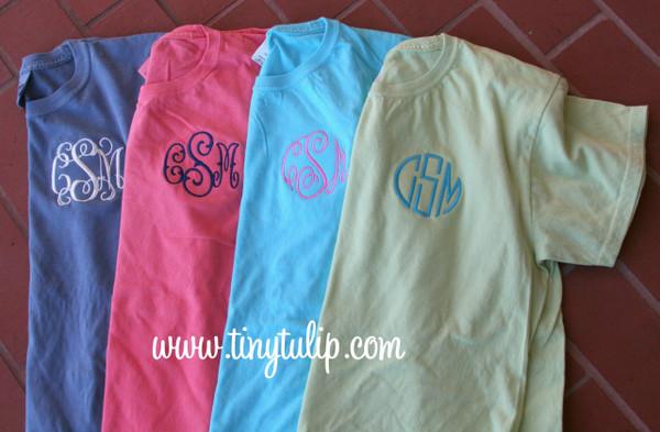 Monogrammed Short Sleeve T Shirt  www.tinytulip.com