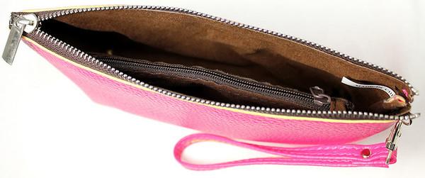 Monogrammed Leatherette Wristlet www.tinytulip.com Inside View