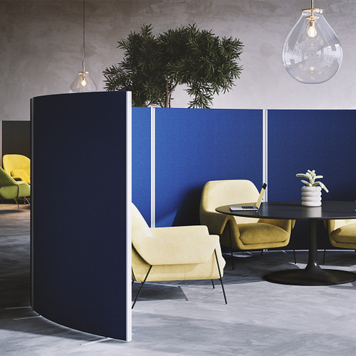 Acoustic curved partition screen