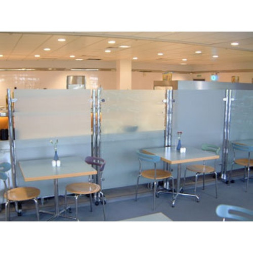 Classic Glass Partition Screen Straight