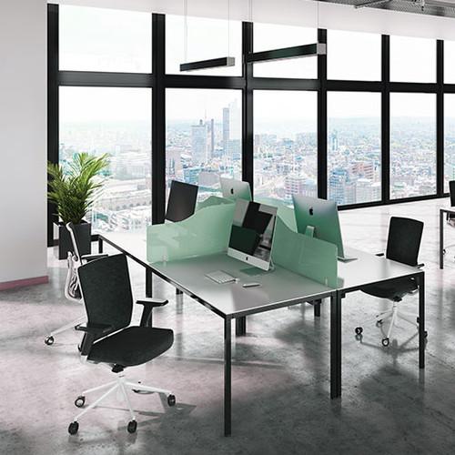 Budget acrylic desk screens wave top