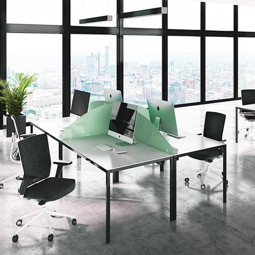 Budget acrylic desk screens curve top