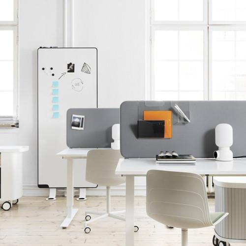 Acoustic desk partition softline table 30 above desk