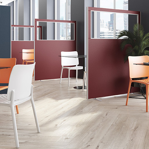 Easy clean vinyl office partition screen top vision
