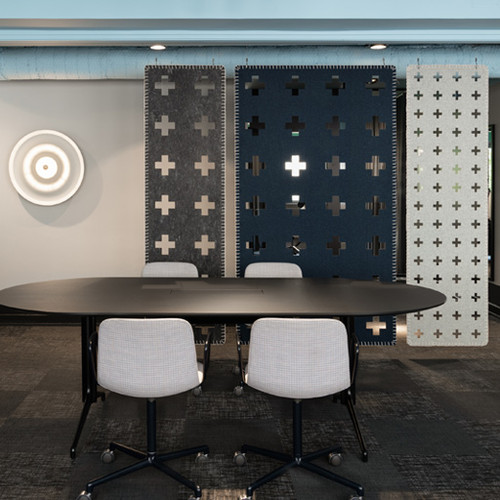Combo Cross with Seam Acoustic Office Divider