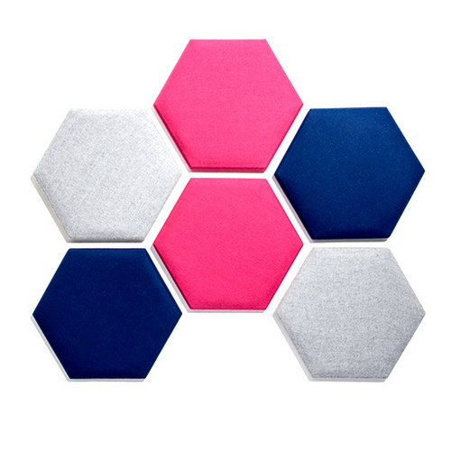 Quad Hexagon Acoustic Wall Tiles