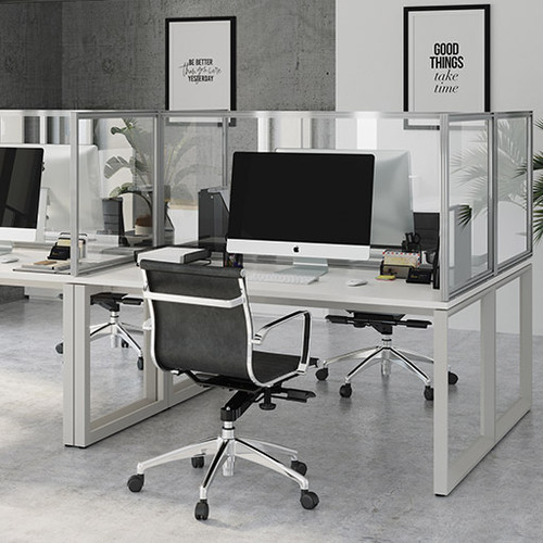 Protect Desk Mounted Glazed Screen