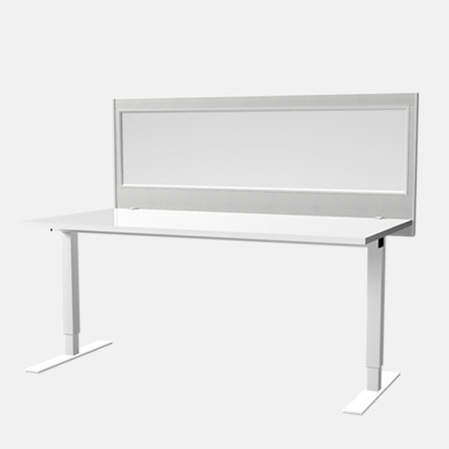 Antibacterial Vinyl Desk Mounted Glazed Screen