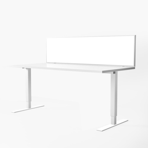 Polo Whiteboard Desk Mounted Glazed Screen