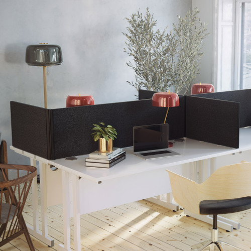 Office desks for home or office working - cantilever desks, rectangular, wave-shaped or ergonomic, writing desks, smart storage desks, in natural oak wood shade or white coated, with wooden legs or brass-style metal frame.
