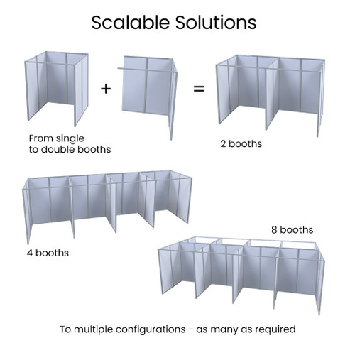 Vaccination & Testing Booths, Modular & Scalable Screen Pods