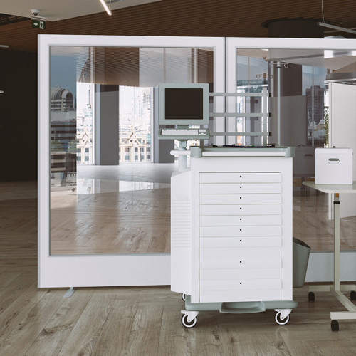 Medical Easy Clean Antibacterial Vinyl Partition Screen Full Vision