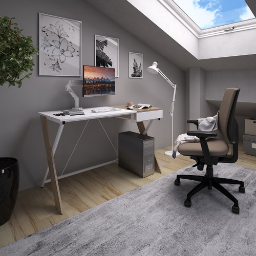 Sidon Desk Workstation Ergonomic Work and Study Furniture for your Home