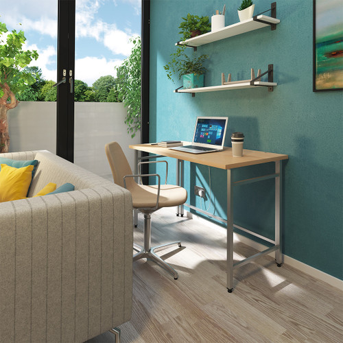 The flat-folding Luxor desk provides an instant home workstation whenever you need one;
