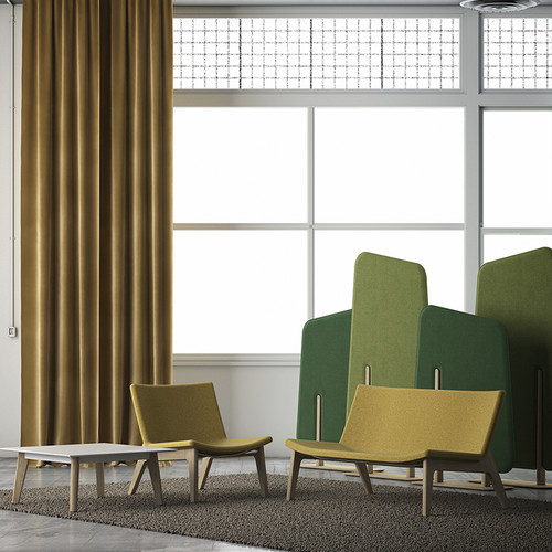 Kielder Freestanding Acoustic Panels are matching sound absorbing dividers in 2 heights and complementing colors.