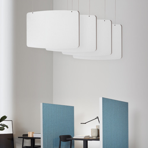 Acoustic Basic Ceiling Baffles by Abstracta - 4 - white - in office.