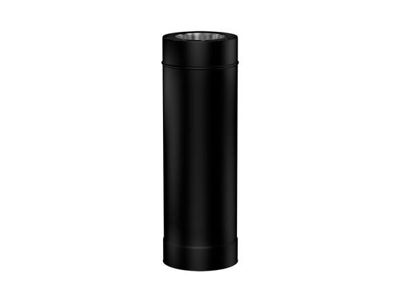 Matt Black Gas Fire 500mm Length 130-200mm