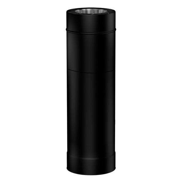 Matt Black Gas Fire Adjustable 410-580mm Length 100-150mm