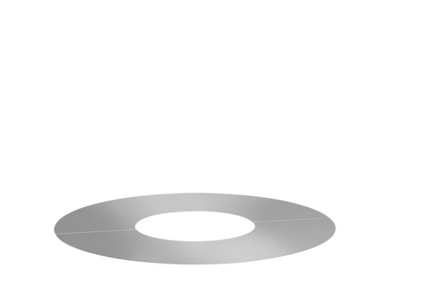Stainless Steel Gas Fire Cover plate 0° 2 Part Round 130-200mm