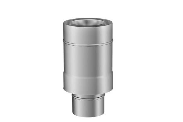 Stainless Steel Gas Fire Concentric to Terminal Adapter 130-200mm