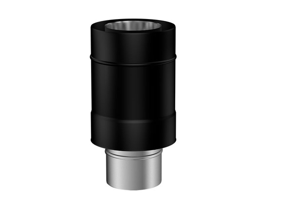 Matt Black Gas Fire Concentric to Terminal Adapter 130-200mm