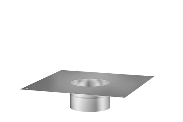 Stainless Steel Gas Fire Air Tight Bottom Plate 100-150mm