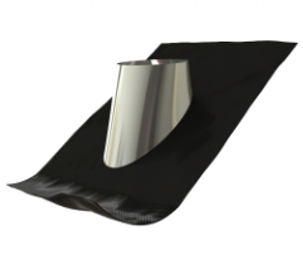 """6"""" Stainless Steel Triple Wall Roof Flashing 10-32"""