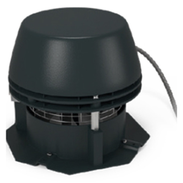 Horizontal discharge chimney fan with octagonal base plate