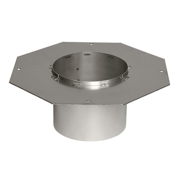 Octagonal flange for steel chimney