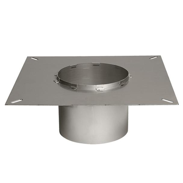 Square flange for steel chimney