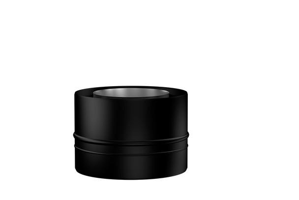 Matt Black Gas Fire Standard Adapter 100-150mm
