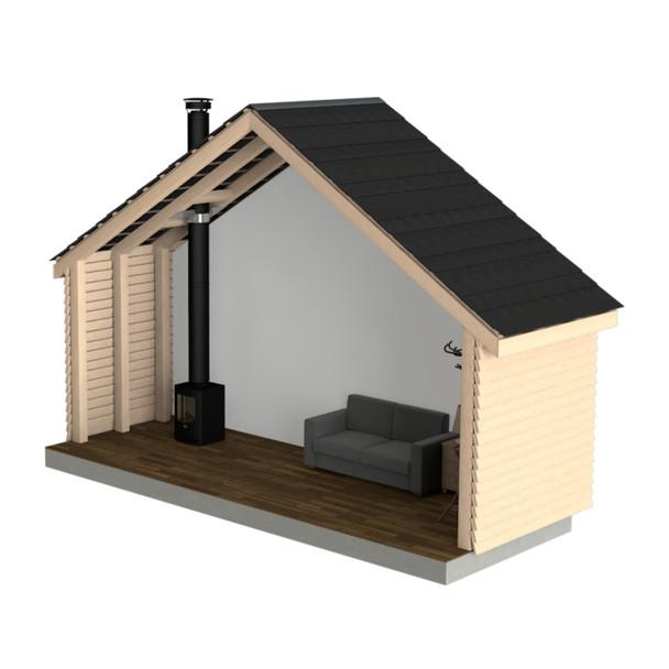 Single Storey Garden Shed/Outhouse Flue Kit