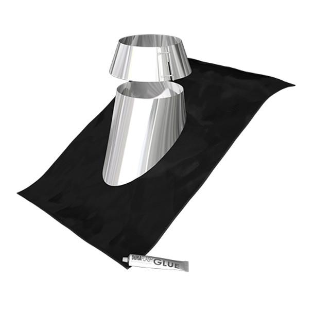 "Shiny Aluminium Cone Flashing 8"""