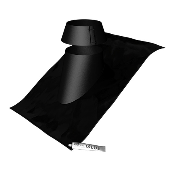 "Black Galvanised  Cone Flashing 7"""