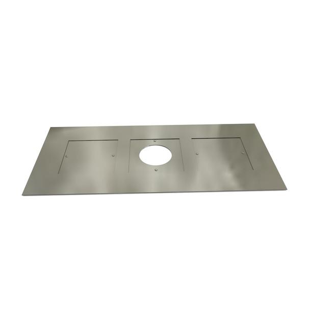 Register Plate 1000mm x 400mm Galvanised Steel