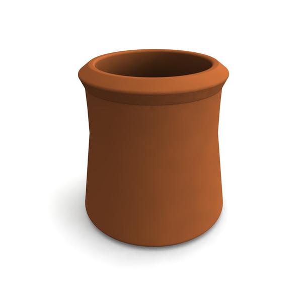 """Clay Chimney Pot 12"""""""