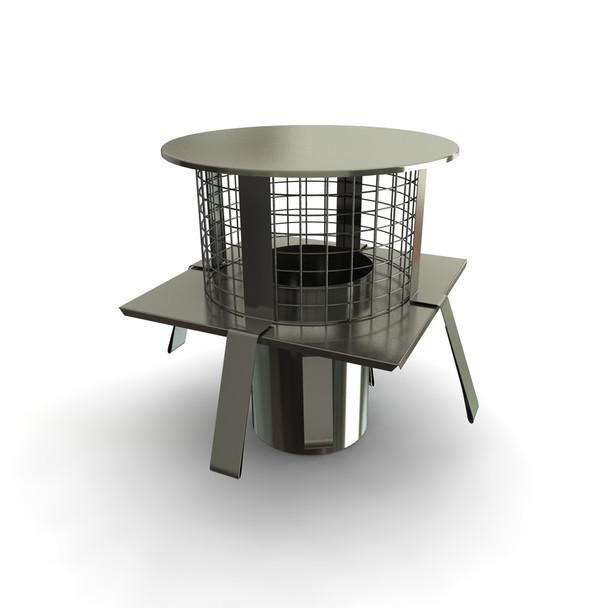 "5"" Square Base Pot Hanger Rain Cap"