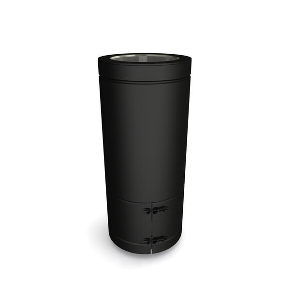 "5"" 500 mm Adjustable Starter Length Black Twin Wall"