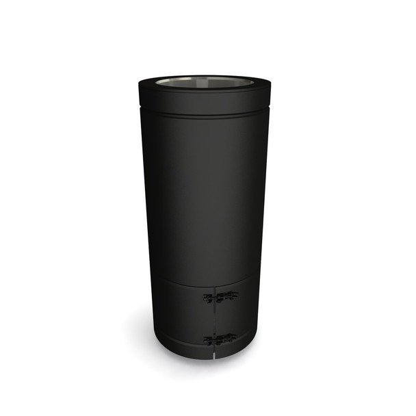 "6"" 500 mm Adjustable Starter Length Black Twin Wall"