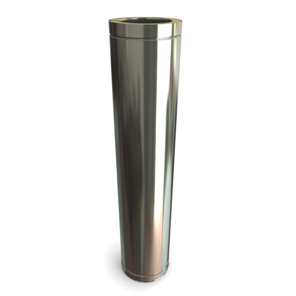 """8"""" 1000 mm Stainless Steel Twin Wall Length"""