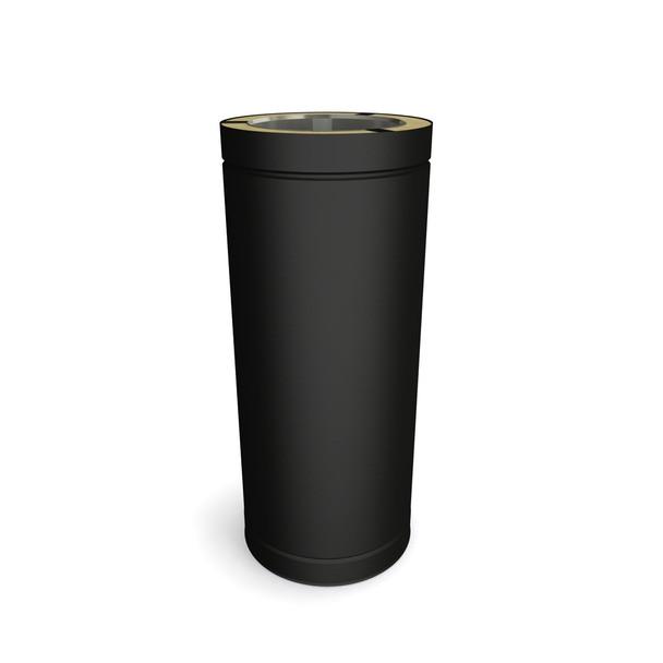 "6"" 500 mm Black Twin Wall Length"