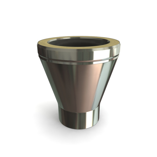 """6"""" Stainless Steel Twin Wall Conical Adapter"""