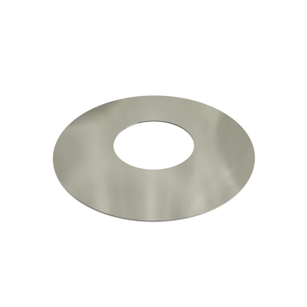 """5"""" Decorative 1 Part Round Finishing Plate 0 Degrees Stainless Steel Twin Wall"""
