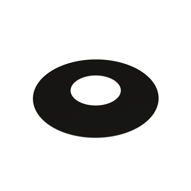 """6"""" Decorative 1 Part Round Finishing Plate 0 Degrees Black Twin Wall"""