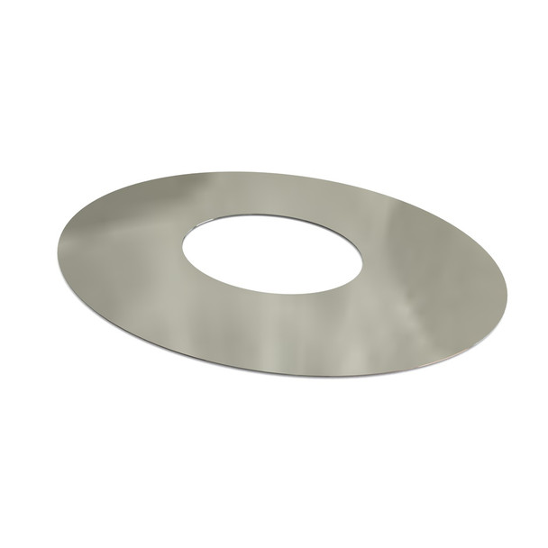 """6"""" Decorative 1 Part Oval Finishing Plate 45 Degrees Stainless Steel Twin Wall"""