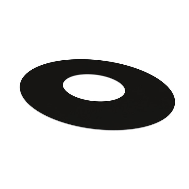 """6"""" Decorative 1 Part Oval Finishing Plate 45 Degrees Black Twin Wall"""