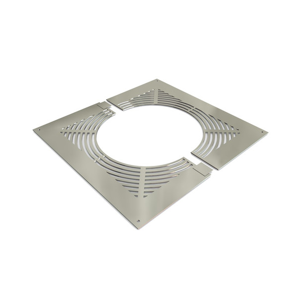 """7"""" Ventilated Fire-stop Plate Stainless Steel Twin Wall"""