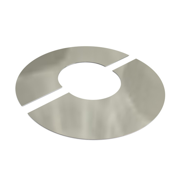 """5"""" Decorative 2 Part Round Finishing Plate 0 Degrees Stainless Steel Twin Wall"""